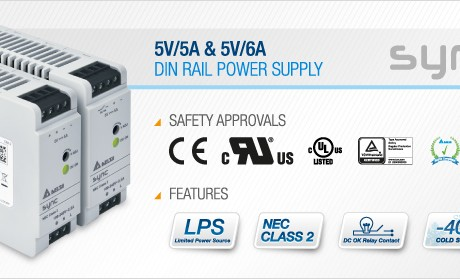 Delta Extends the Ultra Compact DIN Rail Power Supply with